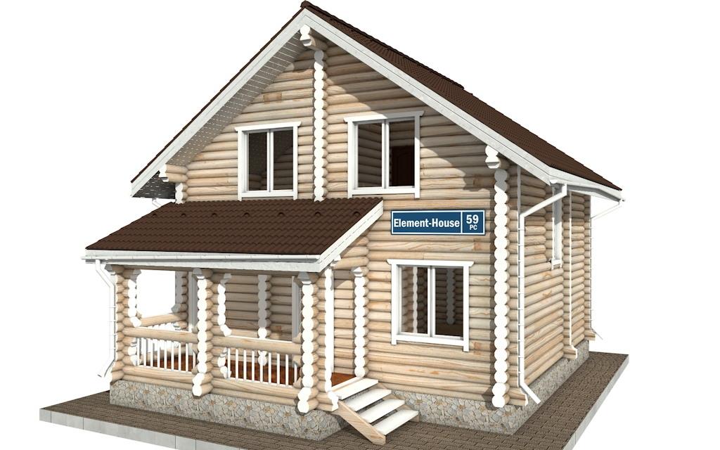 РС-59 - деревянный дома из бревна (из сруба)