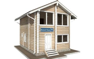 Фото #1: Красивый деревянный дом РС-60 из бревна