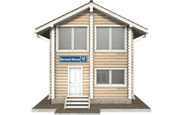Фото #7: Красивый деревянный дом РС-60 из бревна