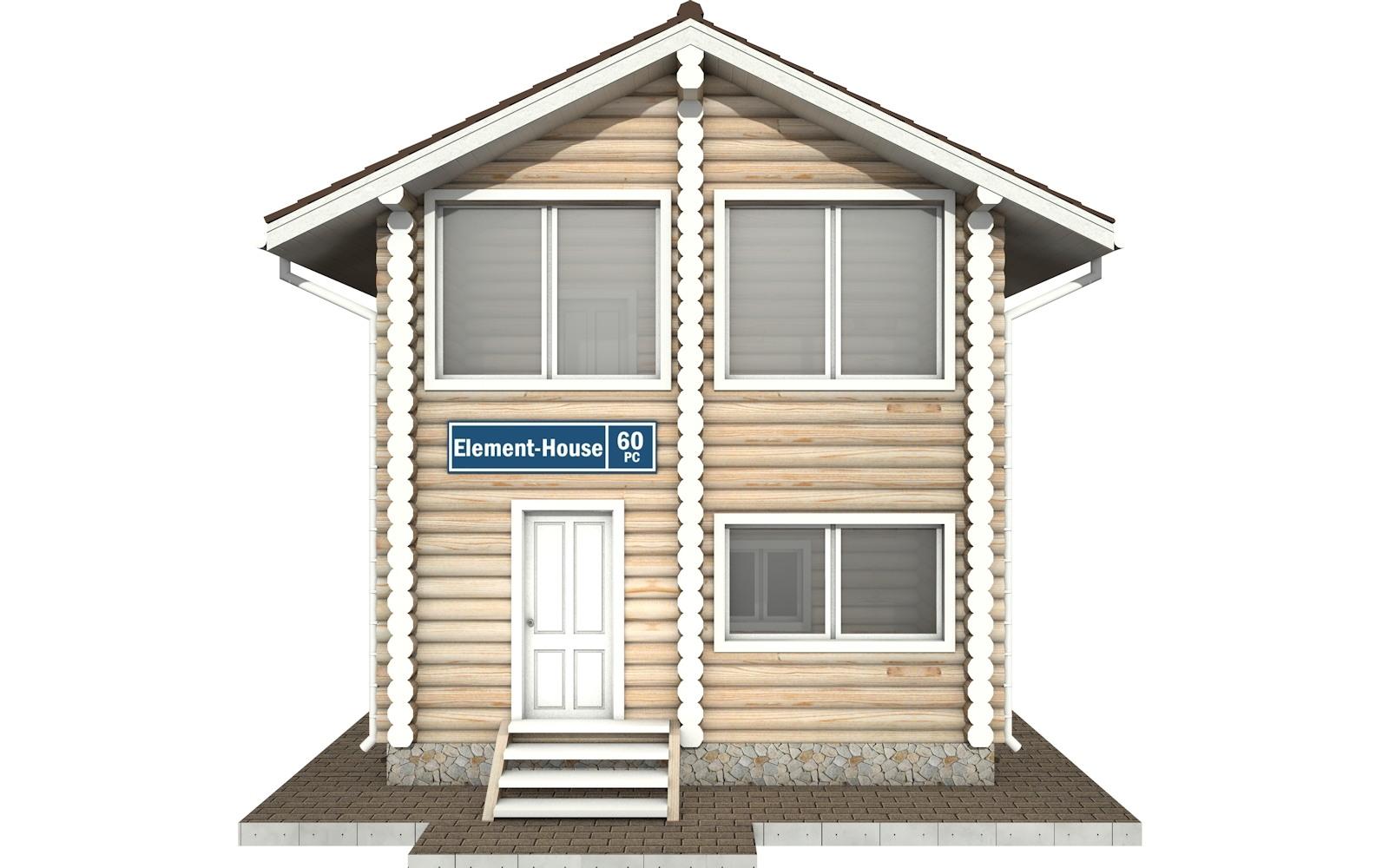 Фото #6: Красивый деревянный дом РС-60 из бревна
