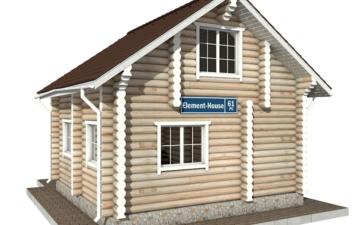 Фото #1: Красивый деревянный дом РС-61 из бревна