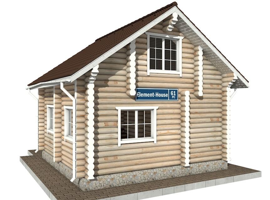 РС-61 - деревянный дома из бревна (из сруба)