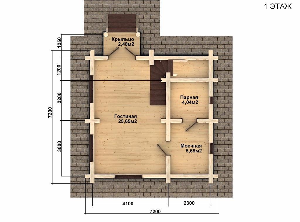 Фото #4: Красивый деревянный дом РС-61 из бревна