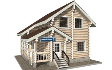 Фото #1: Красивый деревянный дом РС-6 из бревна