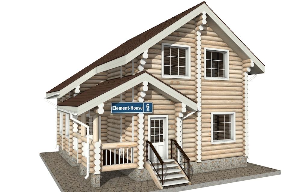 РС-6 - деревянный дома из бревна (из сруба)