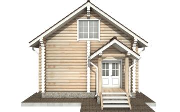 Фото #7: Красивый деревянный дом РС-61 из бревна
