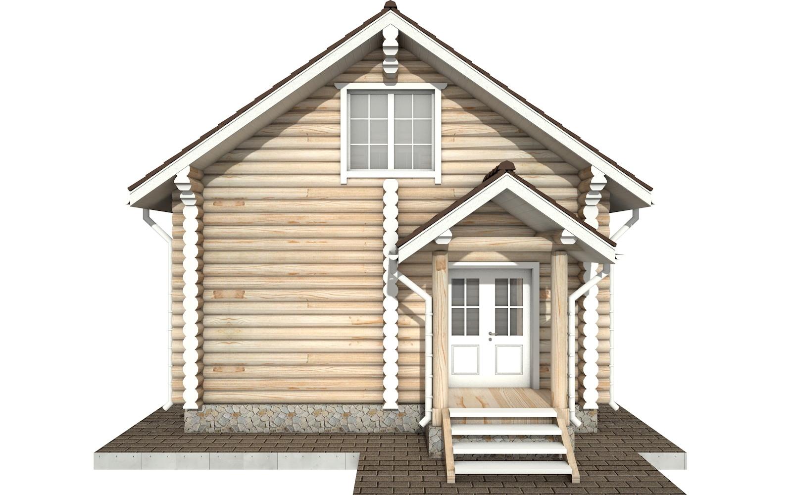 Фото #6: Красивый деревянный дом РС-61 из бревна