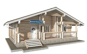 Фото #1: Красивый деревянный дом РС-62 из бревна