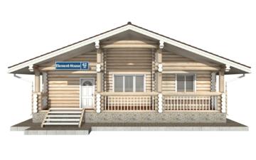 Фото #7: Красивый деревянный дом РС-62 из бревна
