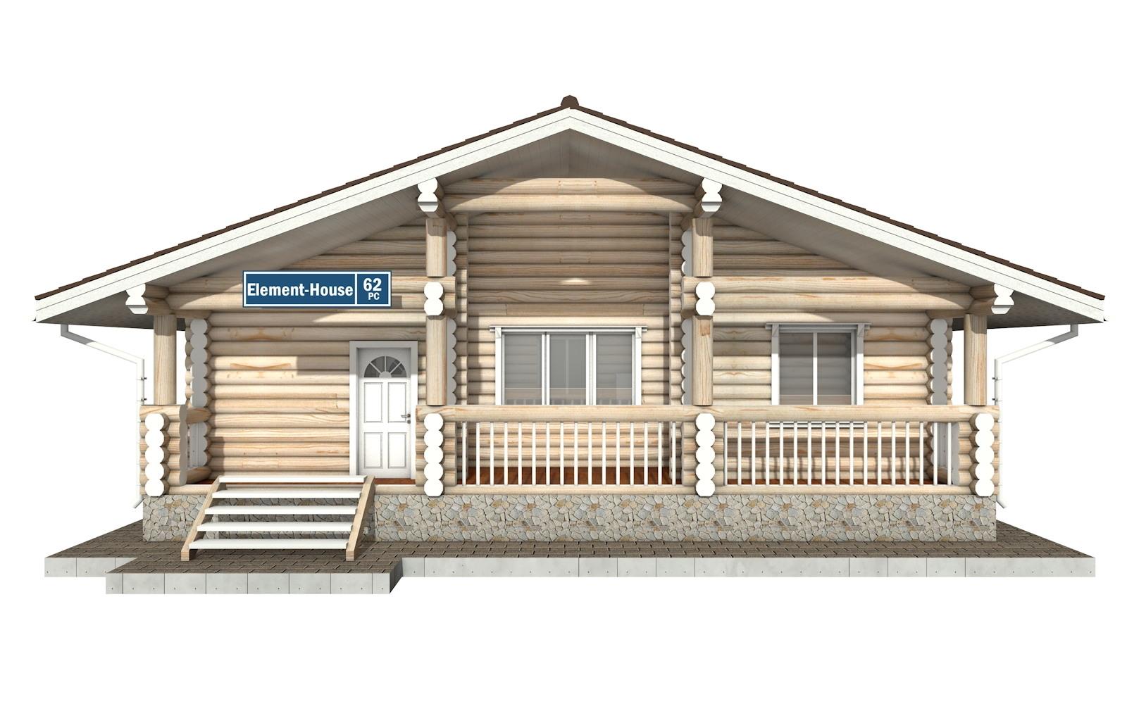 Фото #5: Красивый деревянный дом РС-62 из бревна