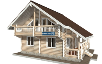Фото #1: Красивый деревянный дом РС-63 из бревна