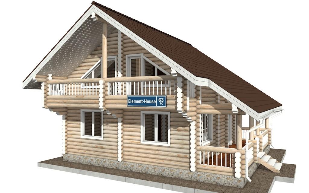 РС-63 - деревянный дома из бревна (из сруба)