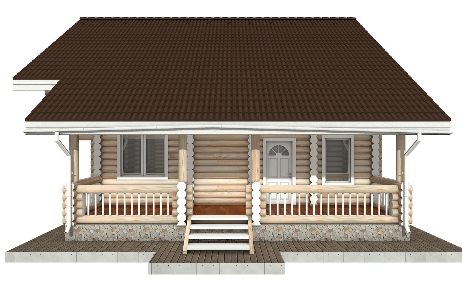 Фото #6: Красивый деревянный дом РС-63 из бревна
