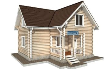 Фото #1: Красивый деревянный дом РС-65 из бревна