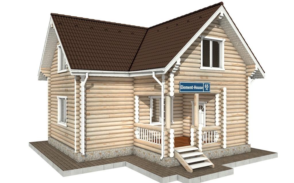 РС-65 - деревянный дома из бревна (из сруба)