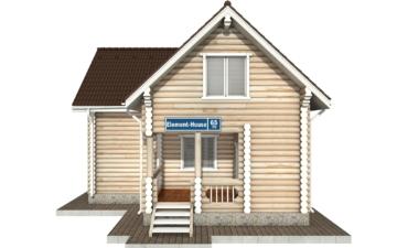 Фото #7: Красивый деревянный дом РС-65 из бревна