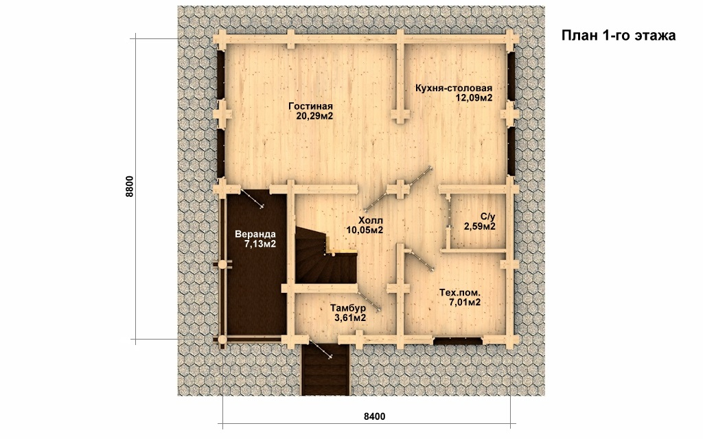Фото #2: Красивый деревянный дом РС-6 из бревна