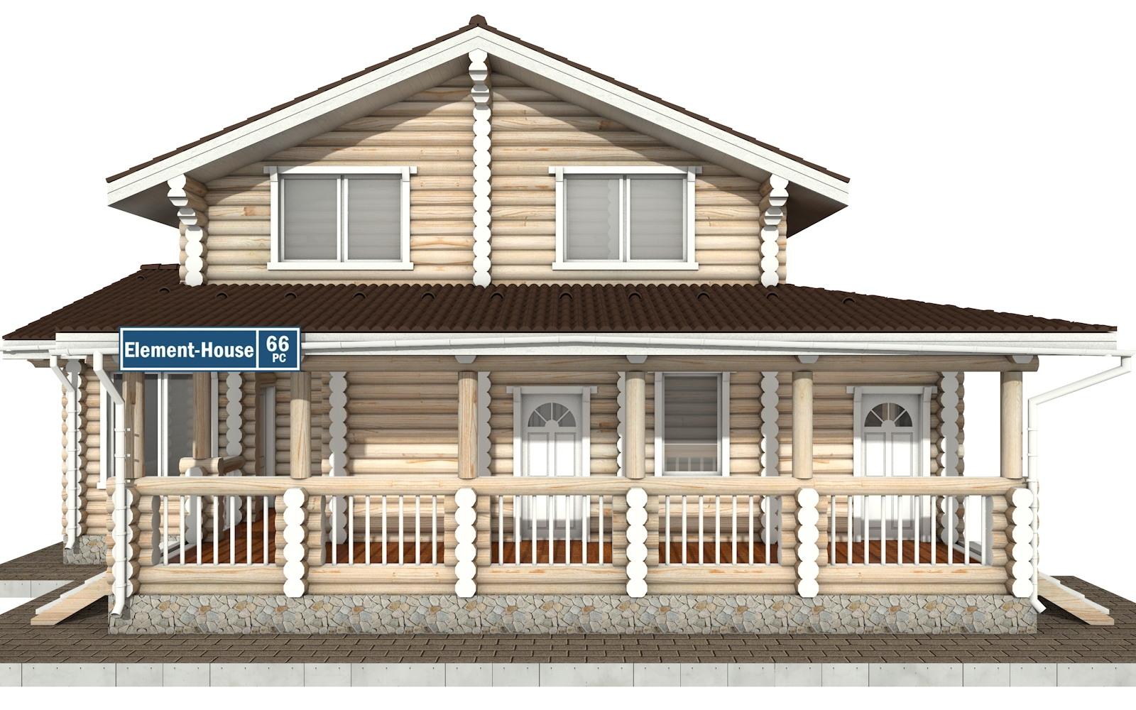 Фото #6: Красивый деревянный дом РС-66 из бревна