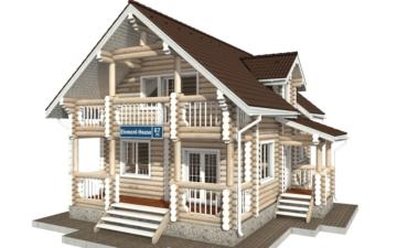 Фото #1: Красивый деревянный дом РС-67 из бревна