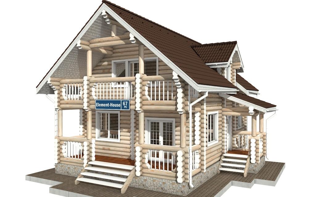 РС-67 - деревянный дома из бревна (из сруба)