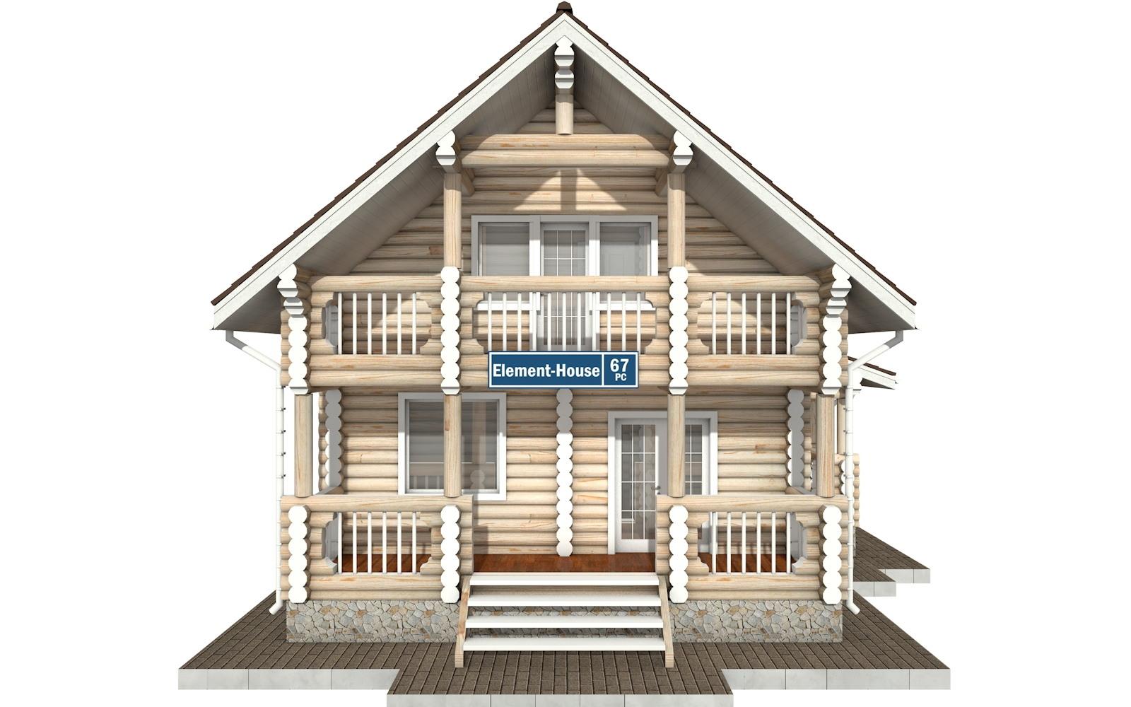 Фото #6: Красивый деревянный дом РС-67 из бревна
