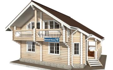 Фото #1: Красивый деревянный дом РС-68 из бревна