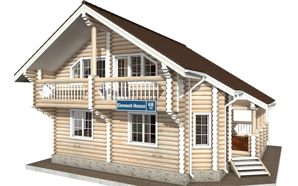 РС-68 - деревянный дома из бревна (из сруба)