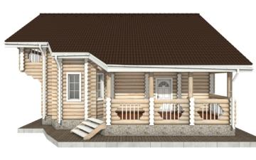 Фото #7: Красивый деревянный дом РС-68 из бревна