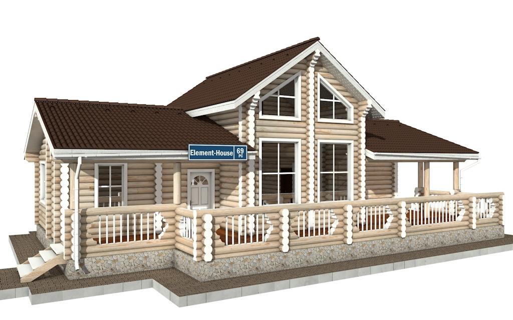 РС-69 - деревянный дома из бревна (из сруба)