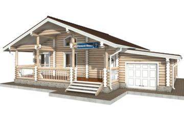 Фото #1: Красивый деревянный дом РС-70 из бревна