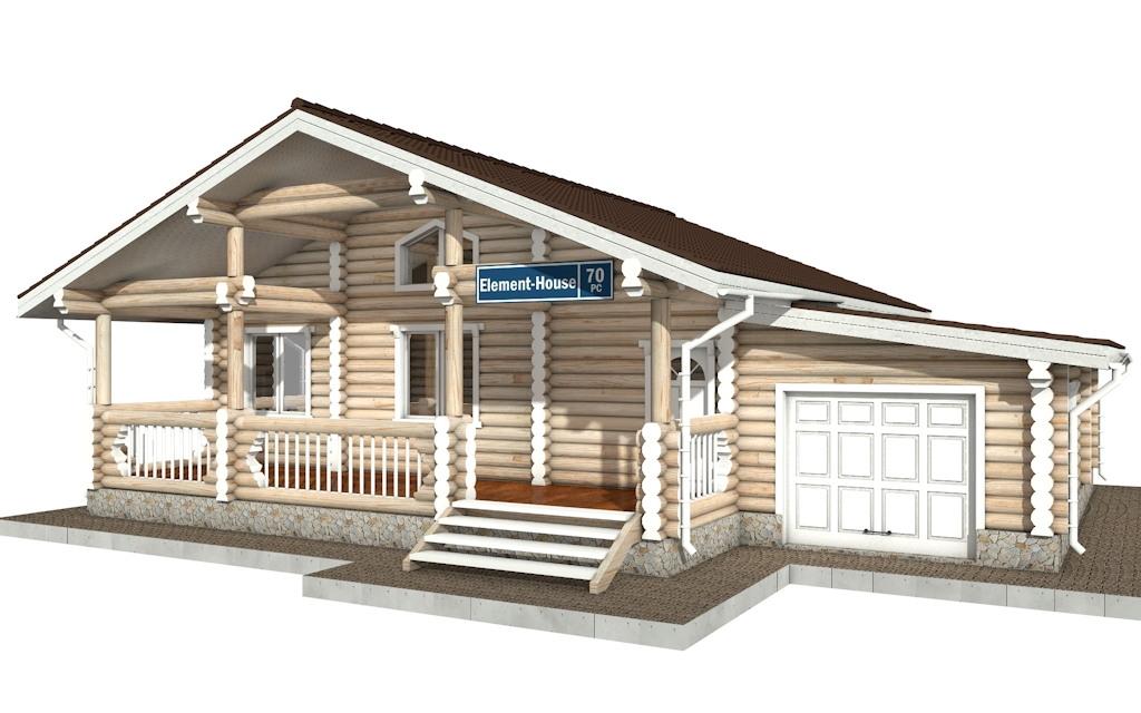 РС-70 - деревянный дома из бревна (из сруба)