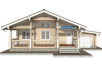Фото #7: Красивый деревянный дом РС-70 из бревна