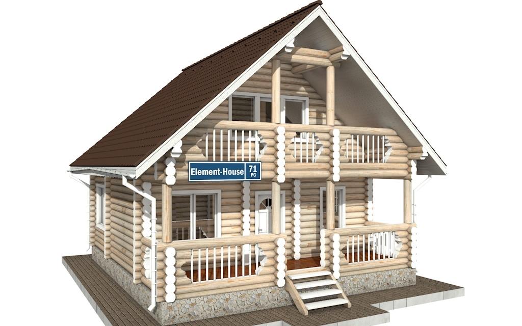 РС-71 - деревянный дома из бревна (из сруба)