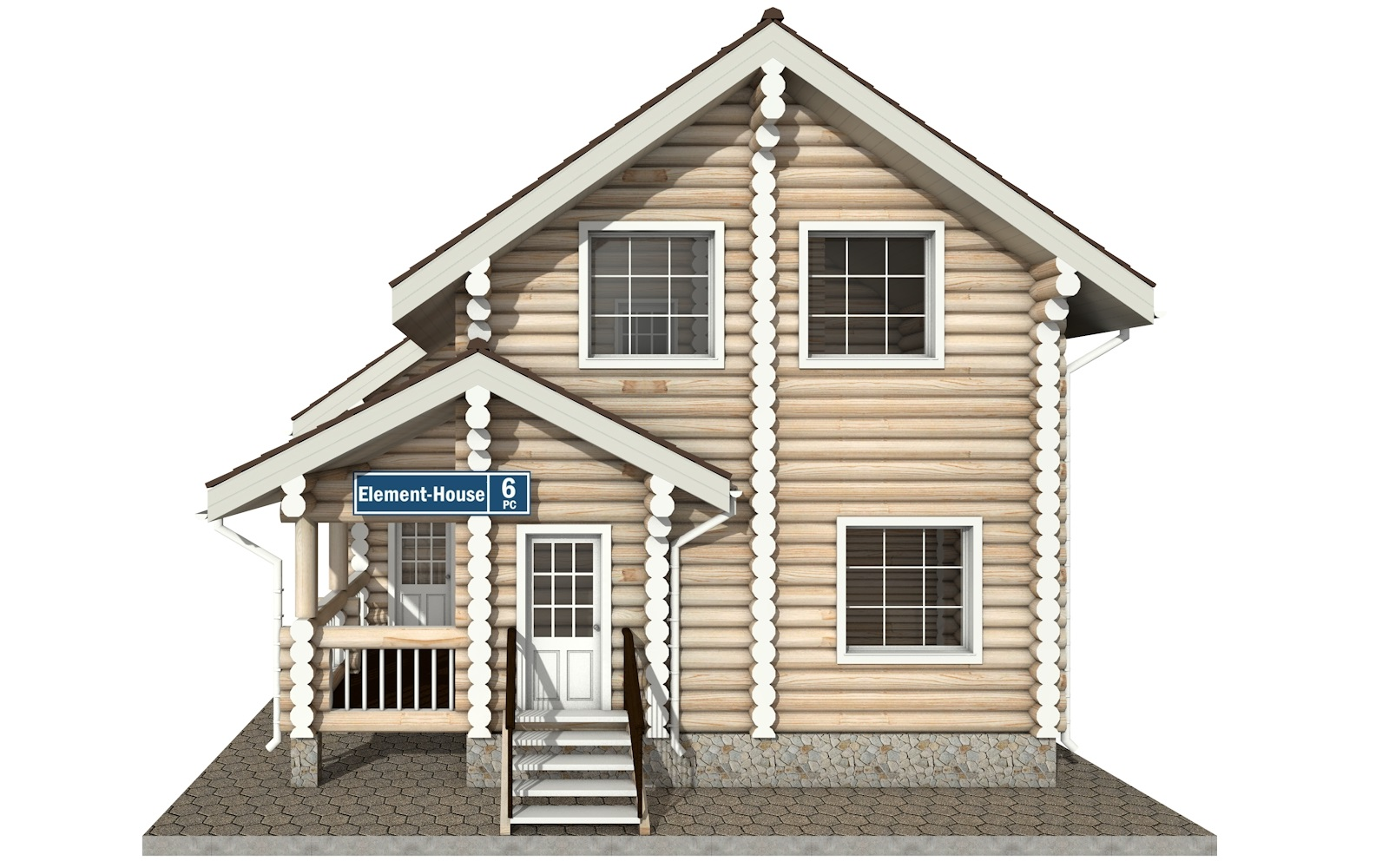 Фото #6: Красивый деревянный дом РС-6 из бревна