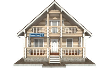 Фото #7: Красивый деревянный дом РС-71 из бревна