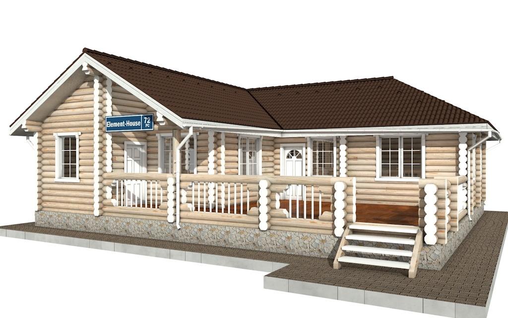 РС-72 - деревянный дома из бревна (из сруба)
