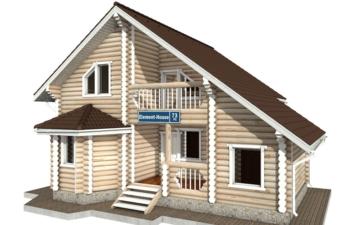 Фото #1: Красивый деревянный дом РС-73 из бревна