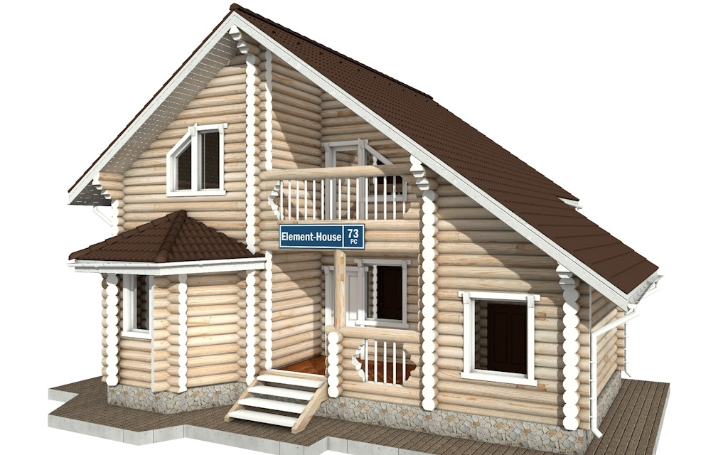 РС-73 - деревянный дома из бревна (из сруба)