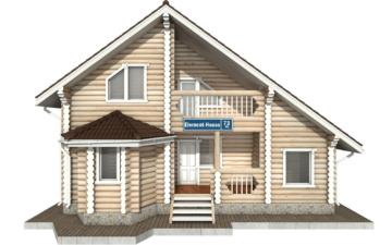 Фото #7: Красивый деревянный дом РС-73 из бревна