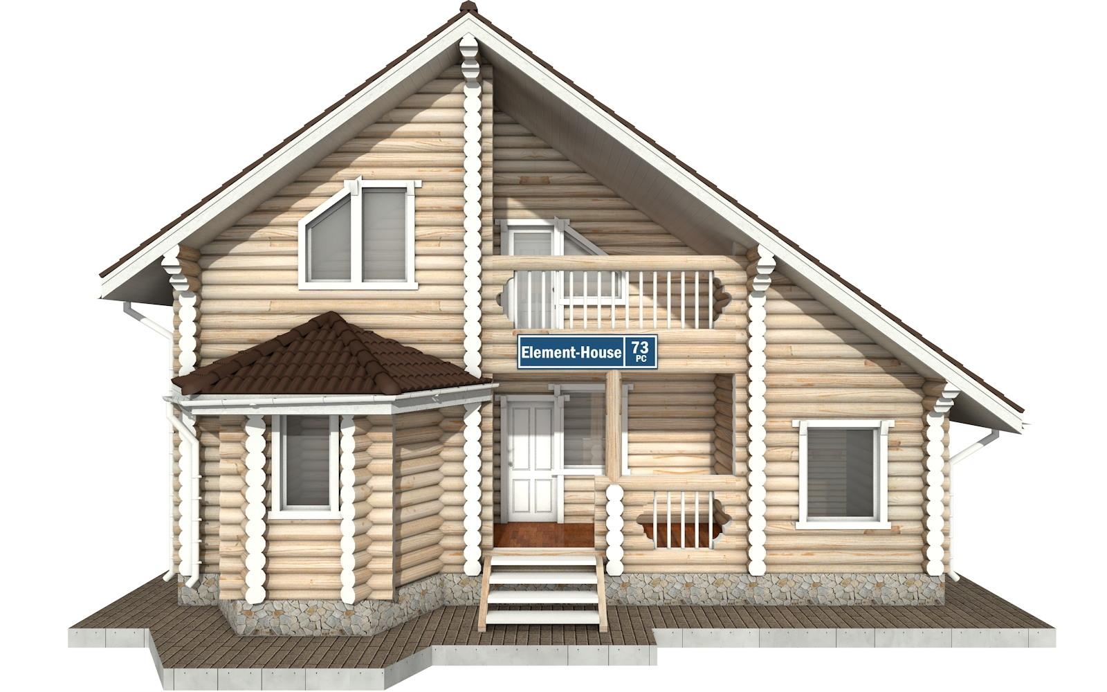 Фото #6: Красивый деревянный дом РС-73 из бревна