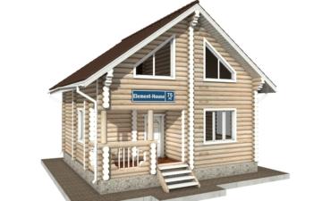 Фото #1: Красивый деревянный дом РС-75 из бревна