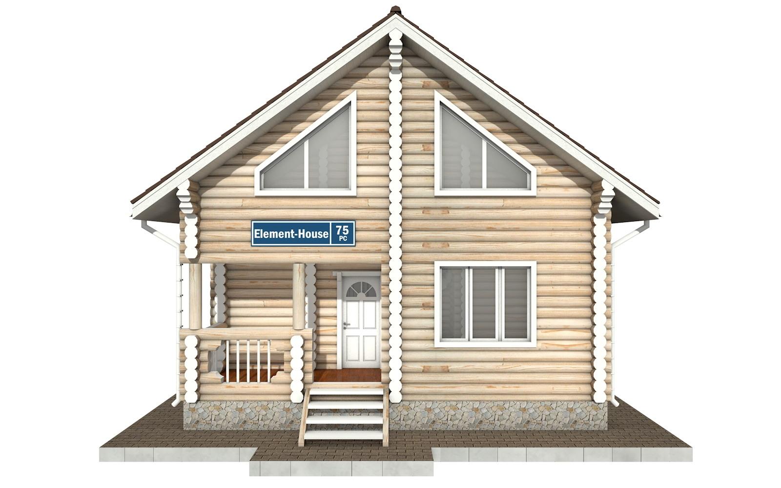 Фото #6: Красивый деревянный дом РС-75 из бревна