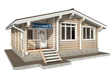 Фото #1: Красивый деревянный дом РС-76 из бревна