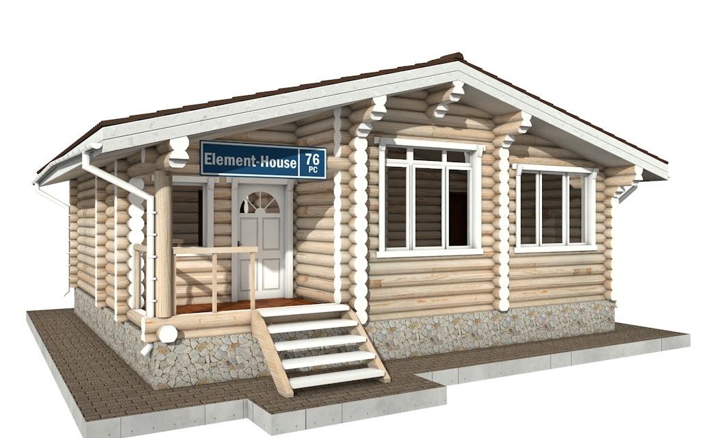 РС-76 - деревянный дома из бревна (из сруба)