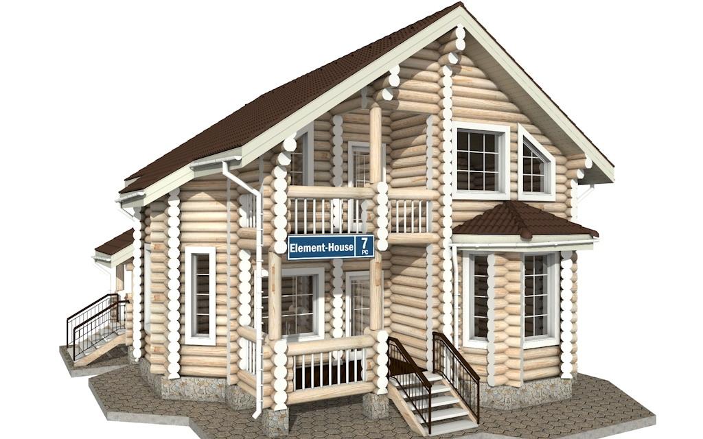 РС-7 - деревянный дома из бревна (из сруба)
