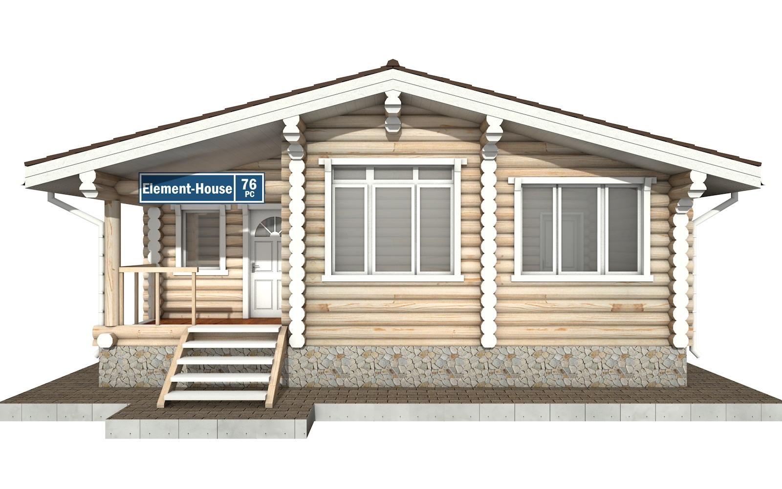 Фото #5: Красивый деревянный дом РС-76 из бревна