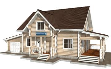 Фото #1: Красивый деревянный дом РС-78 из бревна