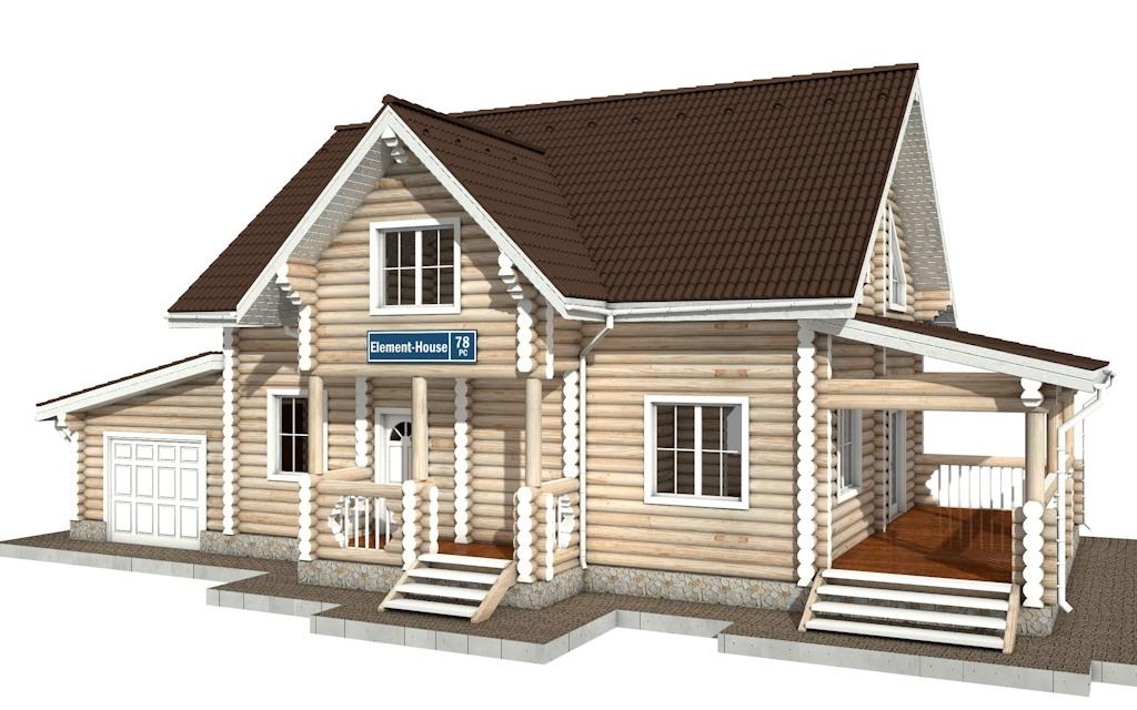 РС-78 - деревянный дома из бревна (из сруба)