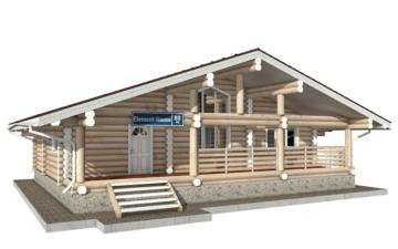 Фото #1: Красивый деревянный дом РС-80 из бревна