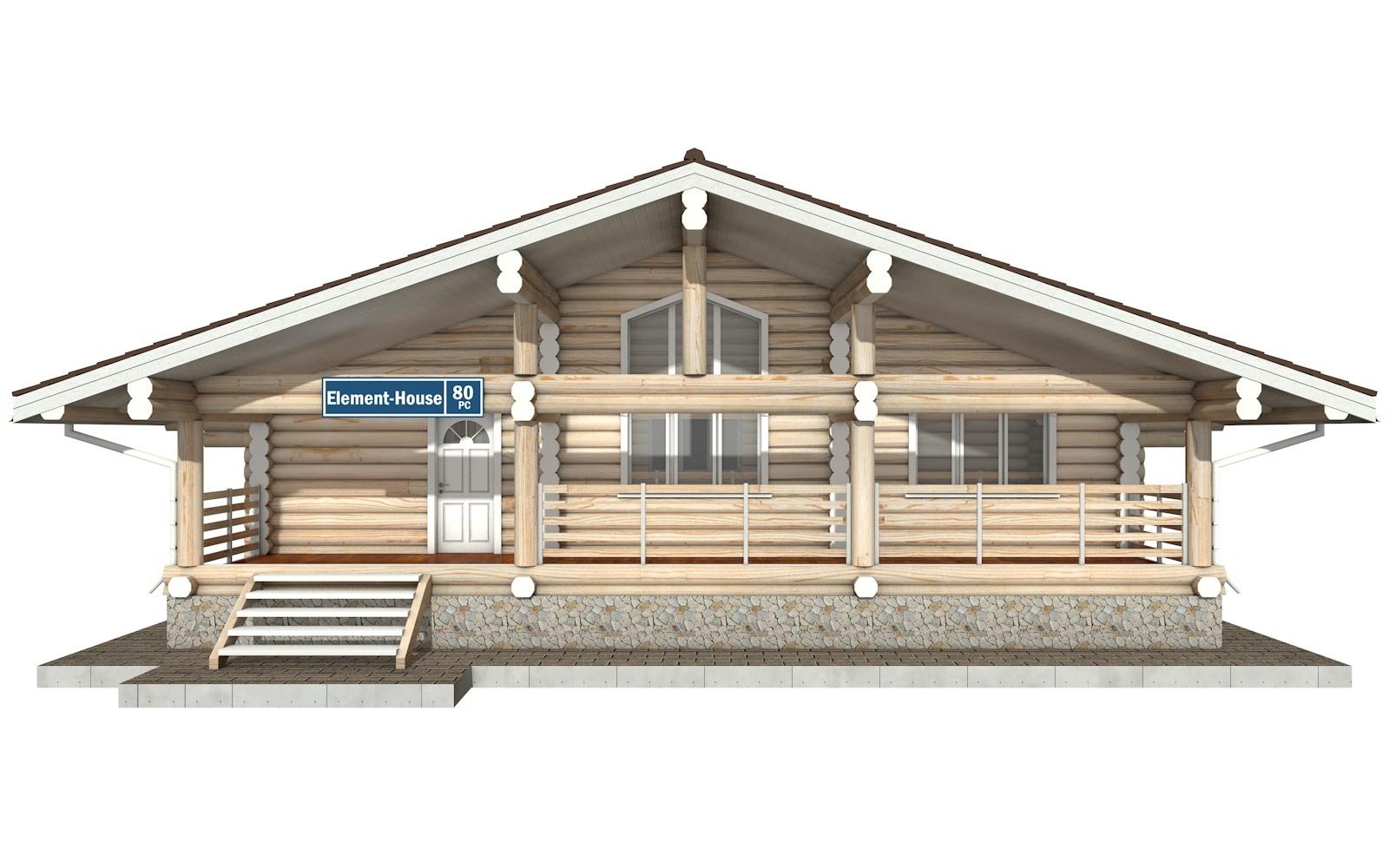 Фото #5: Красивый деревянный дом РС-80 из бревна